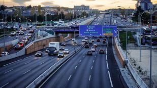 Autovía A2 asu paso por Canillejas, antigua avenida de Aragón.