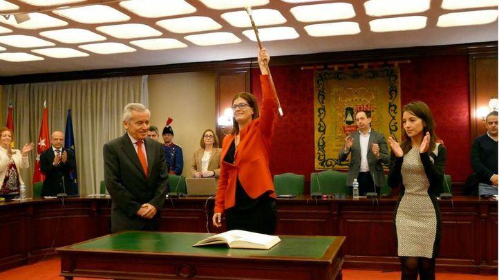 Noelia Posse, en su toma de posesión como alcaldesa de Móstoles.