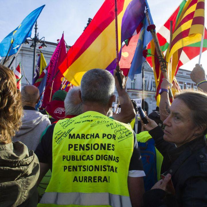 La marcha de jubilados llega a Madrid