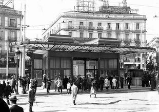 Antigua entrada de Metro de Madrid en la Puerta del Sol