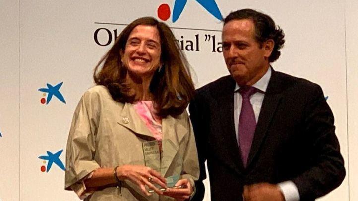 Inés Juste, presidenta de Grupo Juste, recibe recibe el Premio Empresaria del Año de ASEME