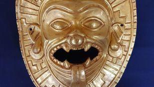 Policía Nacional interviene una Máscara de oro expoliada en Colombia que iba a ser vendida por 200.000 euros
