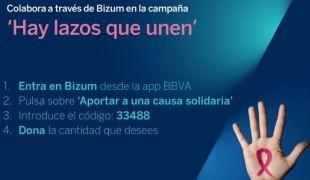 Captación de fondos contra el cáncer de mama a través de Bizum