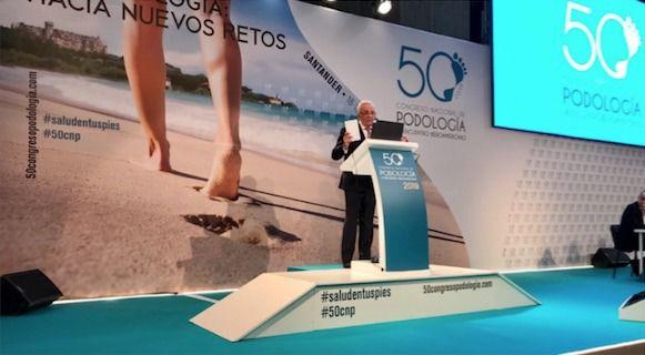 Jesús Sánchez Martos, en el 50º Congreso Nacional de Podología y VI Encuentro Iberoamericano.