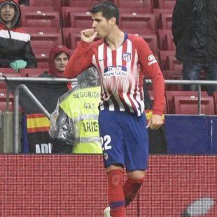 Álvaro Morata, jugador del Atlético de Madrid.