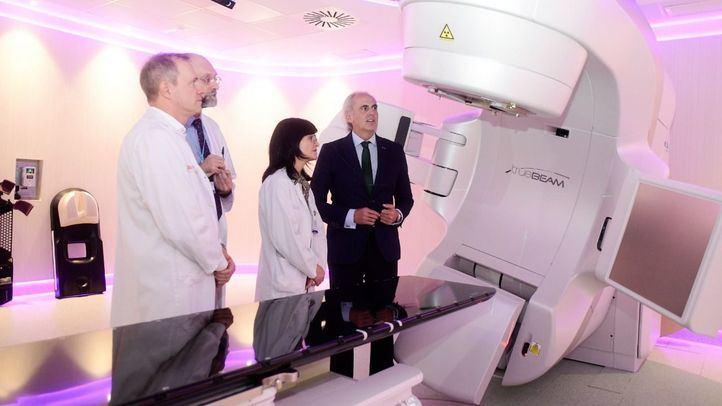 Acelerador lineal contra el cáncer instalado en el Hospital de Fuenlabrada.