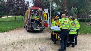 El herido ha caído de una altura de siete metros.