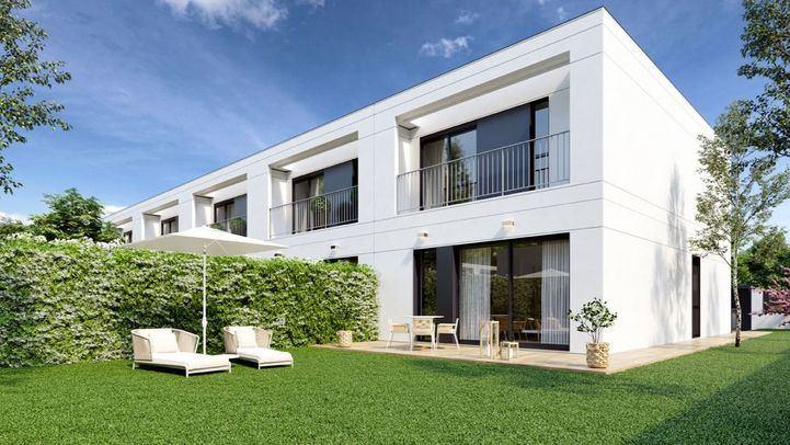 Así serán las viviendas con jardín trasero de la nueva promoción Merian Gardens de AEDAS Homes en Torrejón de Ardoz