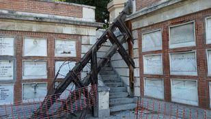 Una de las zonas afectadas en el Cementerio de la Almudena