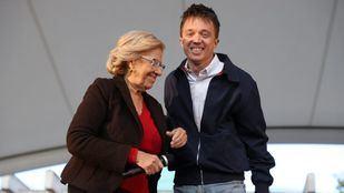 Manuela Carmena e Íñigo Errejón en un acto de campaña de las pasadas elecciones regionales y municipales.