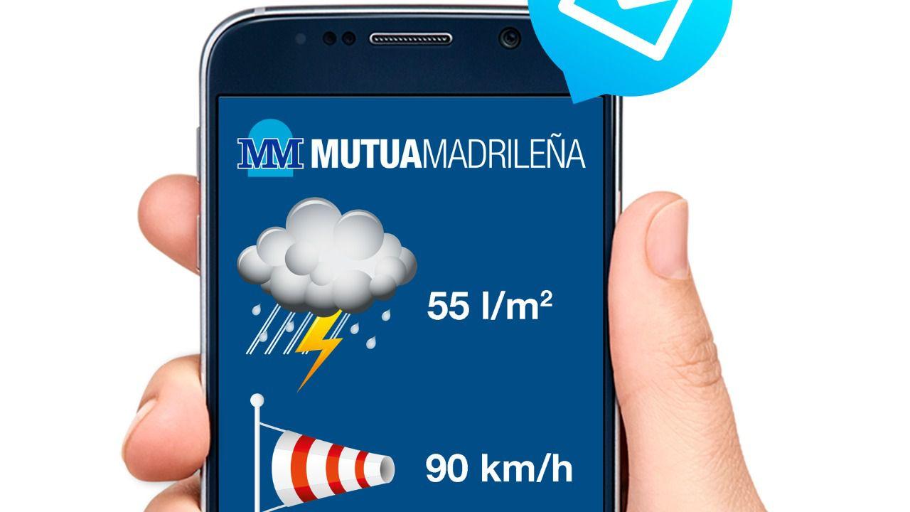 Mutua Madrileña lanza un novedoso servicio de alertas meteorológicas para sus asegurados de hogar