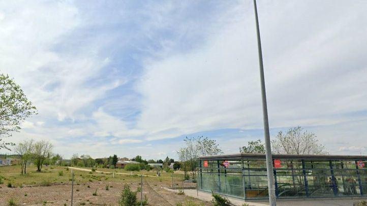 Lugar donde ha sido hallado el cadáver de un toxicómano en Madrid