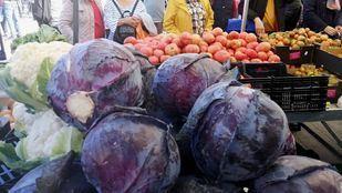 Hortalizas en uno de los puestos del Mercado de Productores