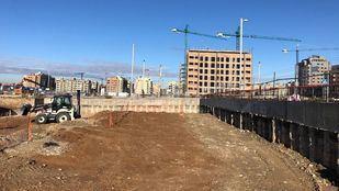 Primeros trabajos de construcción en la parcela de la promoción Monier de AEDAS Homes en El Cañaveral.