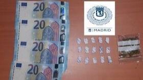 Detenido por portar cocaína y cannabis en Vallecas