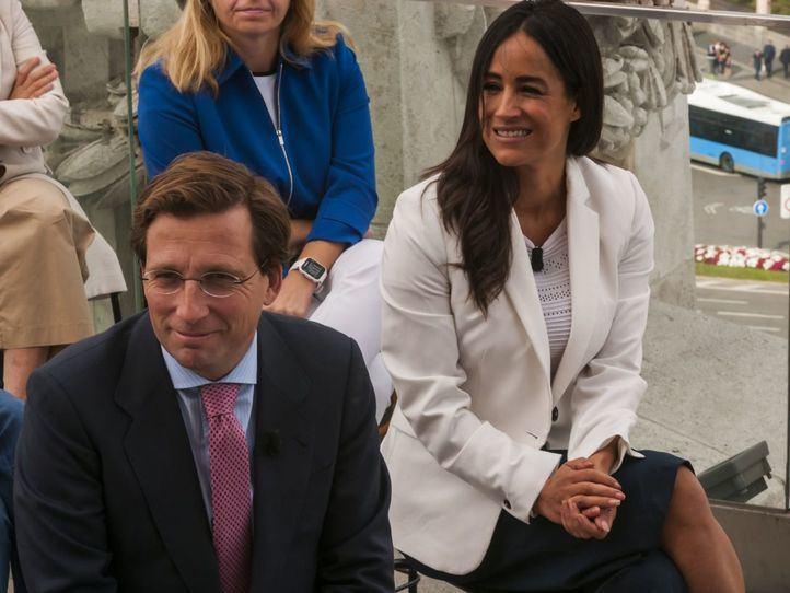 Almeida y Villacís, en la presentación del balance de sus primeros 100 días.