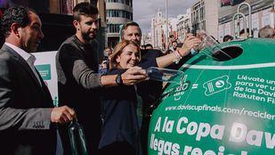 Gerard Piqué, Albert Costa, Borja Martiarena y Nieves Rey en la presentación de la iniciativa.