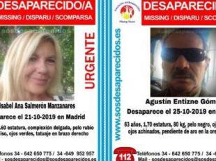 Desaparecidos una mujer y un hombre en Madrid