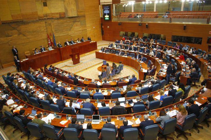 La Asamblea de Madrid respalda con los votos de Vox, Ciudadanos y PP la ilegalización de partidos