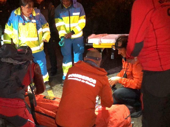 Rescatado en La Pedriza un montañero con síntomas de hipotermia tras pasar la noche al raso