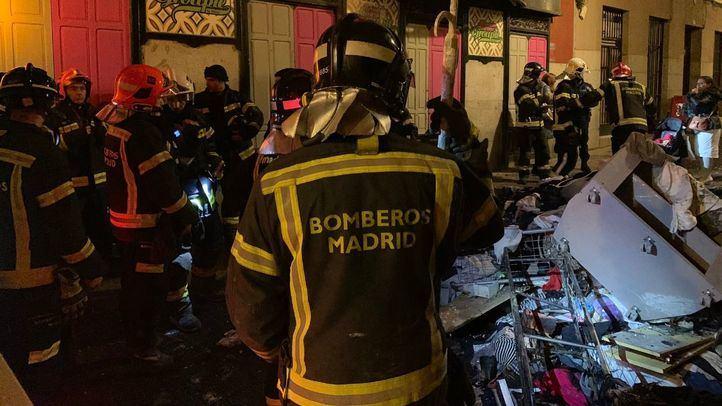 Siete dotaciones de Bomberos participaron en la extinción del incendio