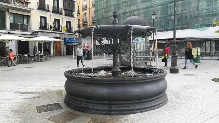 Las fuentes de la plaza de la Cebada