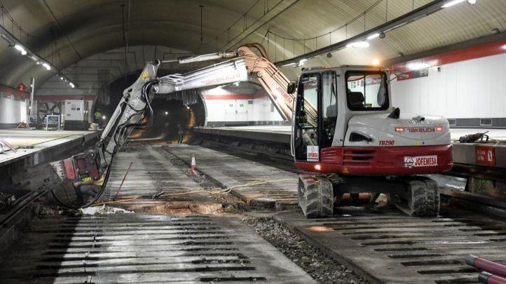 La circulación de trenes por el túnel de Recoletos se reanudará este domingo