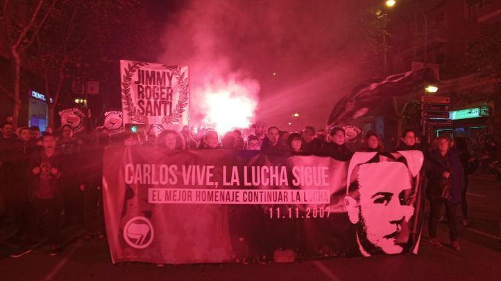 Una manifestación recuerda a Carlos Palomino: 'Madrid será la tumba del fascismo'