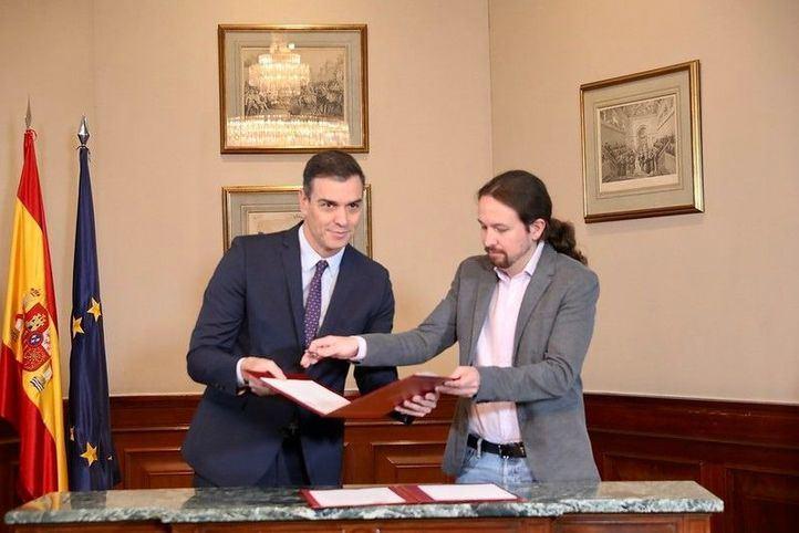 Acuerdo PSOE-Unidas Podemos: estos son los 10 puntos programáticos básicos