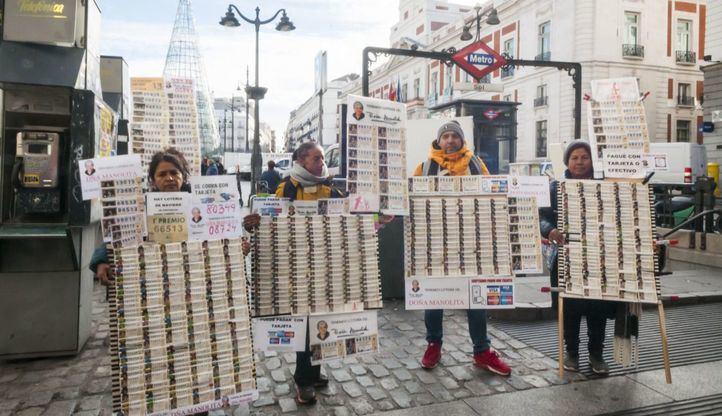 Multas a los loteros que instalen mesas ambulantes en Sol