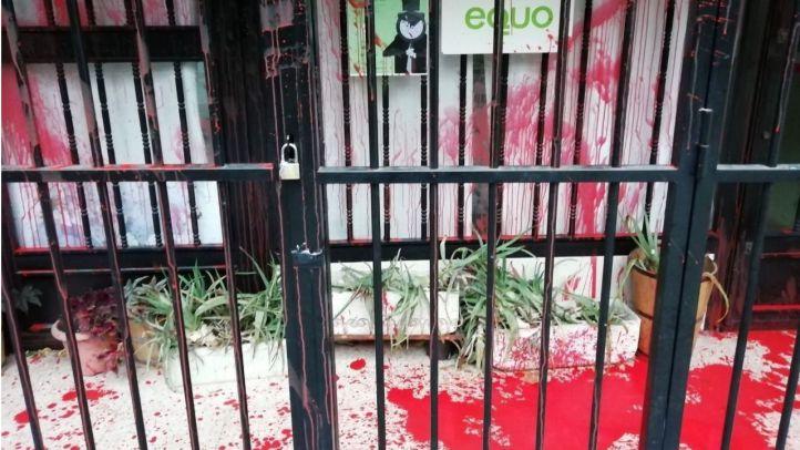 Equo denuncia un nuevo ataque a su sede de Madrid