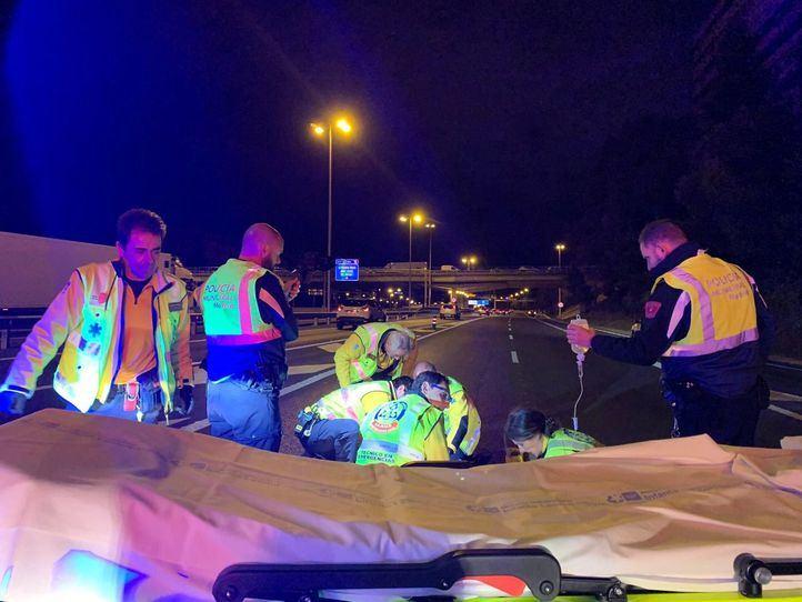 Un accidente de moto en la M-30 deja dos heridos, uno de gravedad