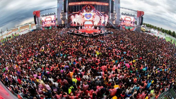 Festival de música, en una foto de archivo