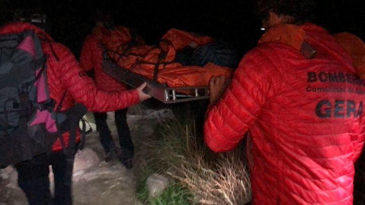 Efectivos del GERA rescataron este sábado a varios niños en La Pedriza