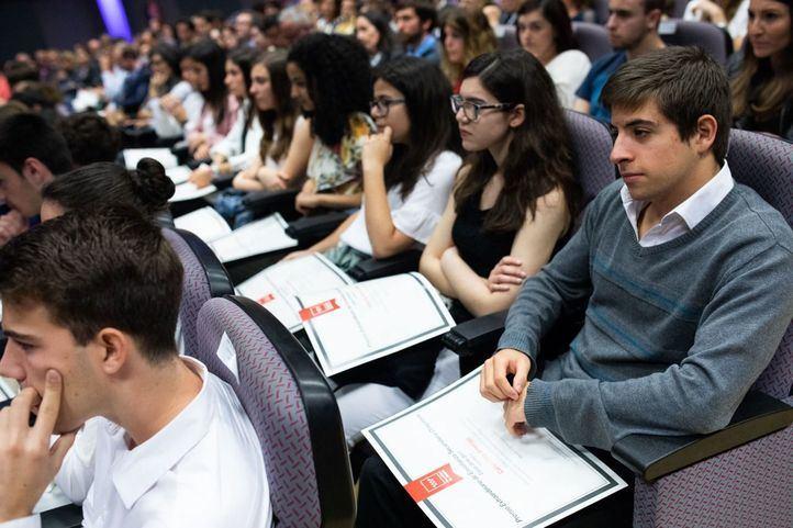 Alumnos de un centro de secundaria de Madrid