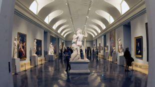 Museo del Prado, sala de esculturas  Reportaje edificio museo del prado