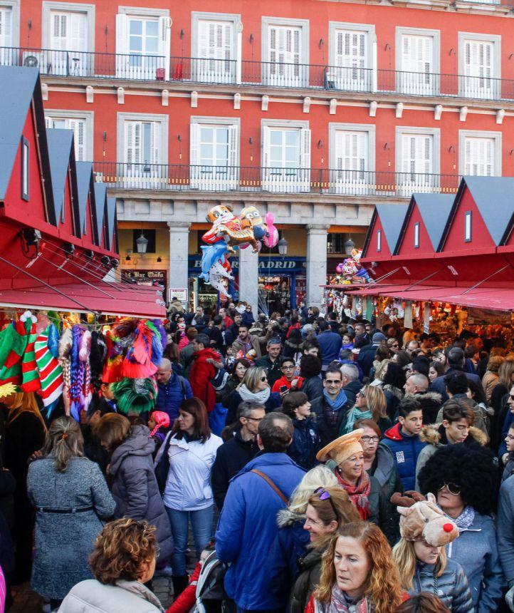 Mercadillo de navidad de la plaza Mayor.