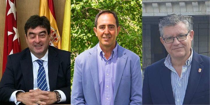 Alcaldes de Alalpardo-Valdeolmos,  Robledo de Chavela y Brunete.