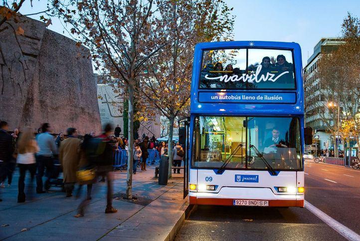 Naviluz, el autobús para ver las luces navideñas de la capital.