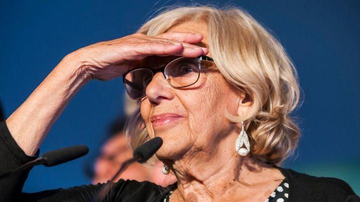 Manuela Carmena, en la noche electoral del pasado 26 de mayo.