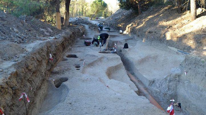 Imagen de los restos arqueológicos encontrados en Somosaguas.