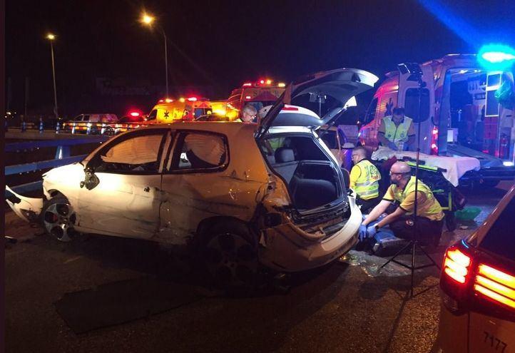 Un joven de 26 años, herido de gravedad al sufrir un accidente en la M-541