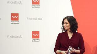 Isabel Díaz Ayuso en un acto de la Comunidad de Madrid