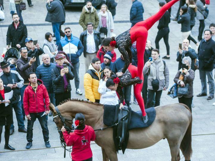 IFEMA Madrid Horse Week llega a la Puerta del Sol llena de acrobacias