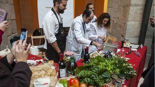 Salón Navideño de Alimentos de Madrid celebrado en el Gobierno Regional.