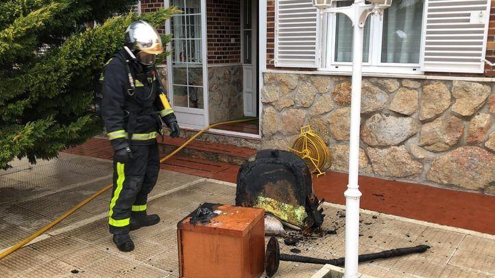 El incendio se había originado en el dormitorio principal