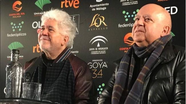 Pedro y Agustín Almodóvar tras conocer los nominados a los Goya 2020