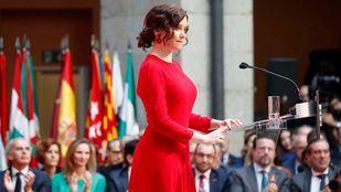 Isabel Díaz Ayuso durante su discurso en el acto homenaje a la Constitución