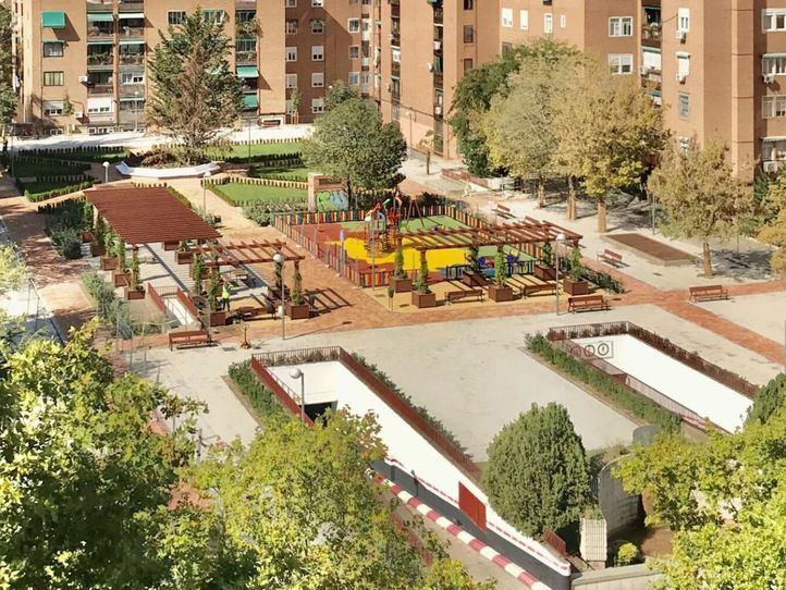 Así es la nueva imagen del parque Antonio Machado