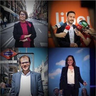 Invitados al debate a cuatro en Onda Madrid: Sabanés, Bal, Viondi y Uriarte